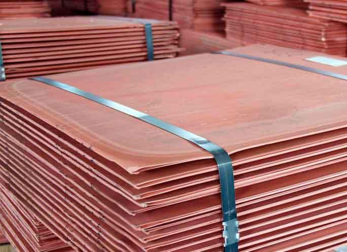 Buy copper cathodes.
